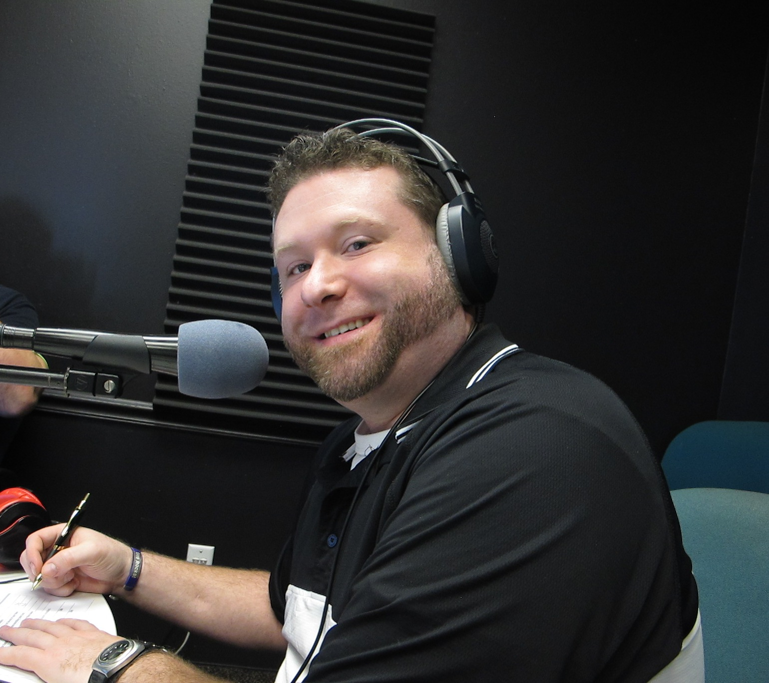 Dustin Goff in studio